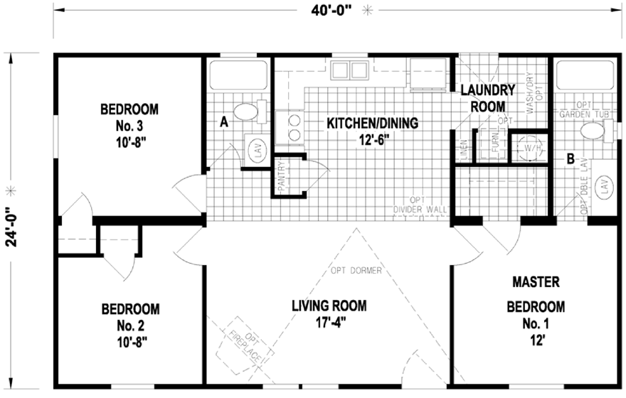 Oradell on Small Double Wide Mobile Home Floor Plans