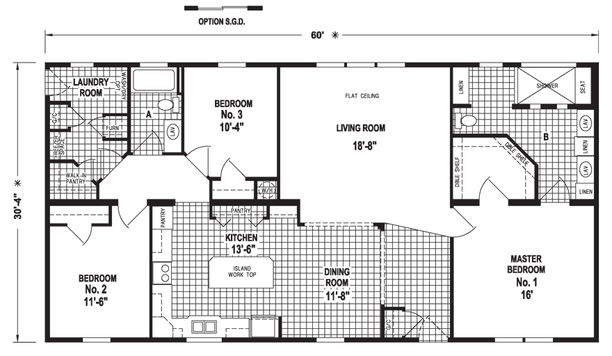 28 60 x 30 floor plans 30 x 60 mobile home floor